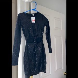Brand New Black sequin dress from h&m